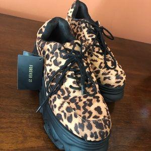 Cheetah platform sneakers